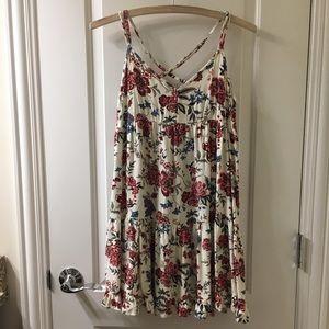 American Eagle Floral Babydoll Dress